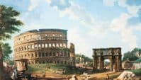 Colosseum print of painting by  Giovanni Panini